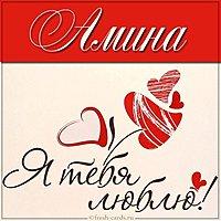 Картинка Амина я тебя люблю
