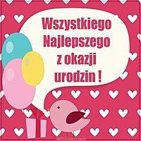 Картинка с днем рождения на польском языке