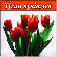 Картинка с поздравлением с днем рождения на казахском