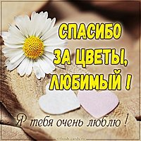 Картинка спасибо за цветы любимый