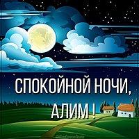 Картинка спокойной ночи Алим