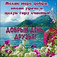 Красивая открытка добрый день друзья
