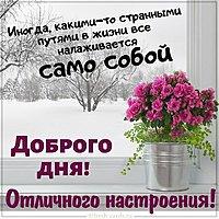 Красивая открытка доброго дня и отличного настроения