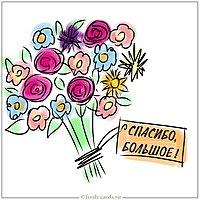 Красивая открытка со словами спасибо большое