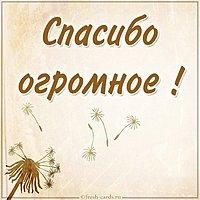 Красивая открытка со словами спасибо огромное