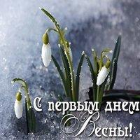 Начало весны открытка