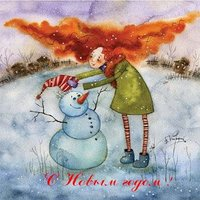 Новогодняя открытка рисунок карандашом