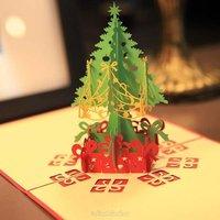 Объёмная открытка к рождеству