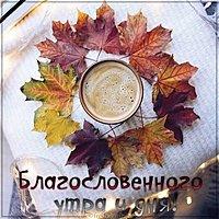 Осенняя картинка благословенного утра и дня