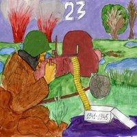 Открытка 23 февраля рисунок детей