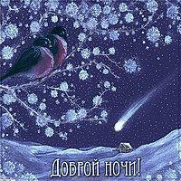 Открытка доброй ночи зима