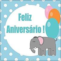 Открытка ко дню рождения на португальском языке