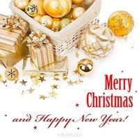 Открытка merry christmas бесплатно