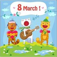 Открытка на английском на 8 марта