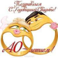 Открытка на юбилей свадьбы 40 лет