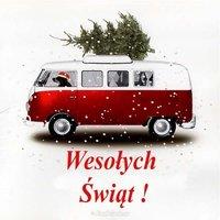 Открытка польский новый год