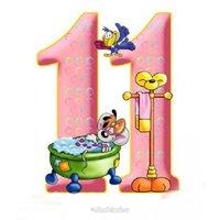 Открытка с днем рождения дочке 11 лет