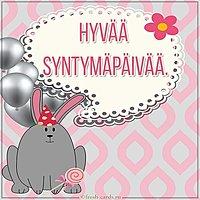 Открытка с днем рождения на финском языке
