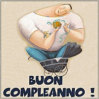 Открытка с днем рождения на итальянском