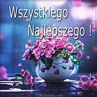 Открытка с днем рождения на польском