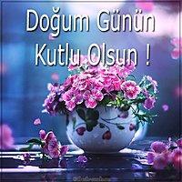 Открытка с днем рождения на турецком языке