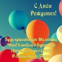 Открытка с днем рождения воздушные шары