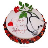 Открытка с днем рождения врачу женщине