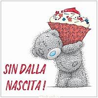 Открытка с днем рождения женщине на итальянском