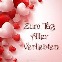 Открытка с днем Святого Валентина на немецком