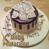 Открытка с днём рождения учителю музыки