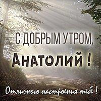 Открытка с добрым утром Анатолий