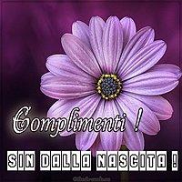 Открытка с поздравлением с днем рождения на итальянском