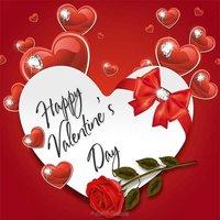 Открытка сердце на день Святого Валентина
