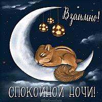 Открытка взаимно спокойной ночи