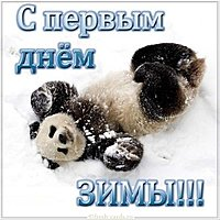 Первый день зимы открытка прикольная