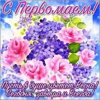 Поздравление с 1 мая открытка