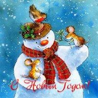 Рисунок новогодняя открытка