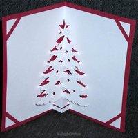 Рождественская объемная открытка