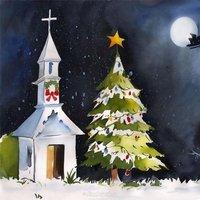 Рождественская открытка детский рисунок