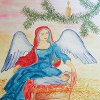 Рождественская открытка рисунок карандашом