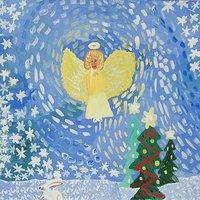 Рождественская открытка рисунок