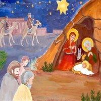 Рождество христово открытка рисунок