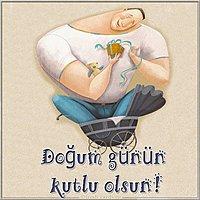 Турецкая открытка с днем рождения мужчине