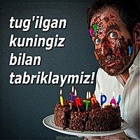 Узбекская открытка с днем рождения