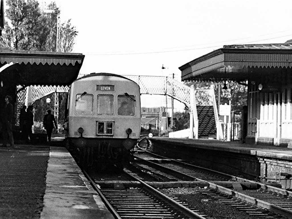 Leven station before its closure.