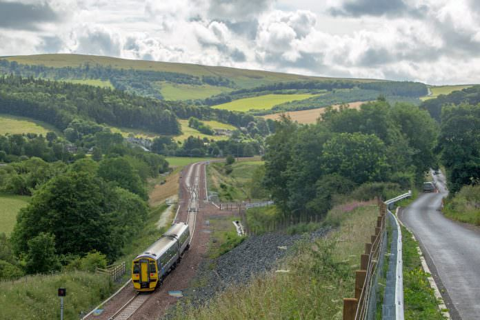 A stock photo of Borders Railway, another recently re-opened line in Scotland.
