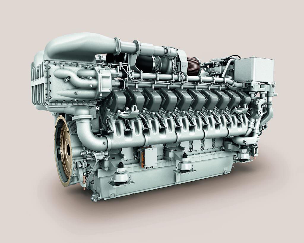 The 20V 4000 R43 engines. Credit: MTU.