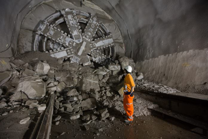 TBM Victoria breaks through into Liverpool Street station in 2015. Credit: Crossrail.