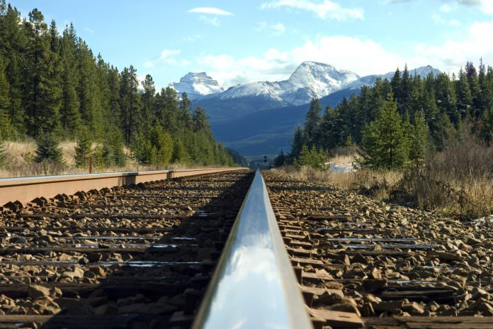 A stock photo of train track in North America. Credit: Graham Tomlin/Shutterstock.