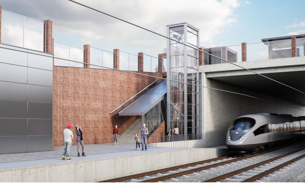 What the new station at Akarp could look like. Credit: Trafikverket.